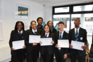 Park View pupils with their certificates