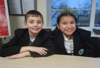 Crowland Primary Mayors for the day Bartosz and Maya
