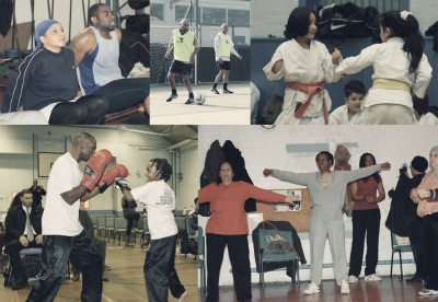 Collage of various clubs using Tottenham Community Sports Centre